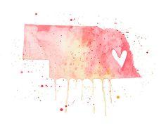Nebraska Love by poppyandpinecone on Etsy, $22.00