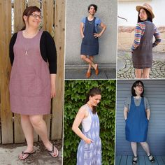 Thank you all so much for your enthusiasm for the York Pinafore! I am so excited to see Yorks already being made and I can't wait to see more. Pinafore Dress Pattern, Tunic Dress Patterns, Diy Clothes And Shoes, Sewing Clothes, Clothes For Women, Overalls Fashion, Fashion Outfits, Women's Fashion, Washi Dress