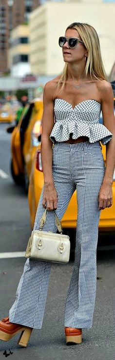 NYFW Spring 2015 top and pants. women fashion outfit clothing style apparel RORESS closet ideas