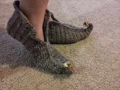 Elf - crochet slippers pattern (FREE) Shush's Handmade Stuff: 12/08/12