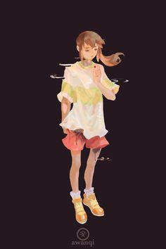 Fan art of Chihiro by Awanki. Spirited Away, Studio Ghibli. Studio Ghibli Art, Studio Ghibli Movies, Cowboy Bebop, Blue Exorcist, Spirited Away Art, Utopia Dystopia, Character Art, Character Design, Character Ideas