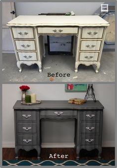 French Provincial Desk | The Wood Spa