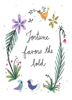 Fortune favors the bold illustration by neikoart on Etsy, $13.00