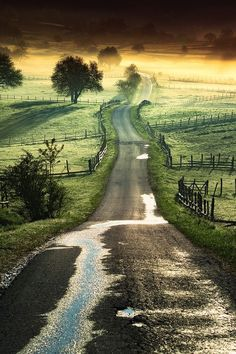 """oldfarmhouse: """"The Road goes ever on and on Down from the door where it began. Now far ahead the Road has gone, And I must follow, if I can, Pursuing it with eager feet, Until it joins some larger way Where many paths and errands meet. And whither..."""