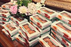 Krispy Kremes! Late night snack idea--as take home gift for guest