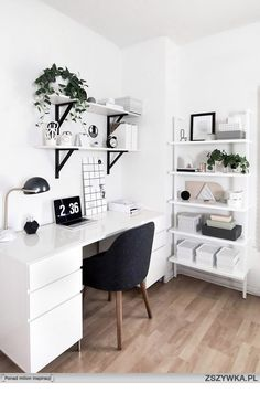 Design Home Office - Design Home Office Home Office Space Design Ideas biuro Home office design. Beautiful and Subtle Home Office Design Ideas restyle your office. 50 Home Office Design Ideas That Will Inspire Productivity room[…] Home Office Design, Home Office Decor, Office Designs, Workspace Design, Office Workspace, Small Workspace, Office Room Ideas, White Desk Office, Black And White Office