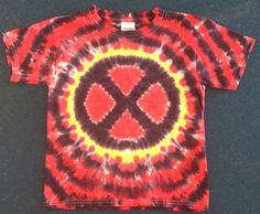 Hand made reverse dyed xmen shirt free shipping by dyeout on Etsy