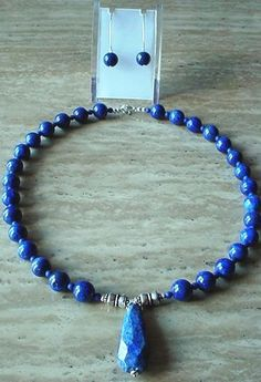 Blue Lapis Lazuli  Necklace c/w Lapis Lazuli Pendant  by camexinc, $45.00