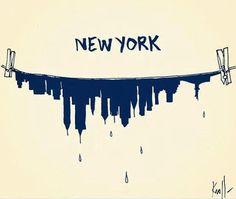 Lovely illustration of New York post Sandy Graphic Design Illustration, Illustration Art, Pop Art, Empire State Of Mind, I Love Ny, New York Post, Design Graphique, Jolie Photo, Art Design