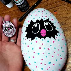 Painted Rock - All For Garden Pebble Painting, Dot Painting, Pebble Art, Stone Painting, Painted River Rocks, Painted Rocks Craft, Hand Painted Rocks, Painted Stones, Rock Painting Patterns