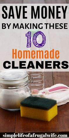 It's so easy to whip up some non-toxic homemade cleaners that are super cheap. Save money and make your own cleaners with just a few ingredients. Homemade Cleaning Supplies, Household Cleaning Tips, Cleaning Hacks, Household Products, Homemade Tools, Cleaners Homemade, Diy Cleaners, Stove Top Cleaner, Washing Soda