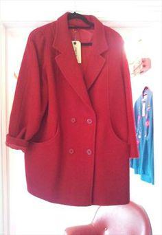 red oversized coat £25 Oversized Coat, Winter Months, Coats For Women, Fancy, Blazer, Denim, Red, Jackets, Fashion