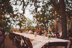 Pretty pretty outdoor reception. Really simple too. Photo by Nessa K.
