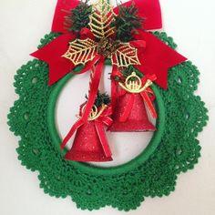 Crochet Christmas Wreath, Christmas Angel Ornaments, Crochet Christmas Decorations, Winter Wedding Decorations, Santa Ornaments, Handmade Ornaments, Christmas Crafts, Christmas Crochet Patterns, Crochet Snowflakes