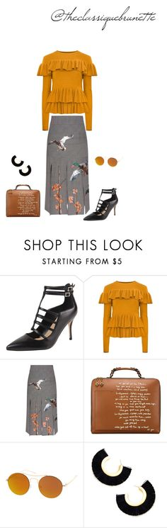 """""""@theclassiquebrunette"""" by sara-rodriguez-arias ❤ liked on Polyvore featuring Ivanka Trump, Stella Jean, Tory Burch and SW Global"""