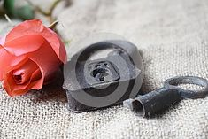 Photo about Close up of an old padlock with a key and a pink rose on a rustic background. Image of close, search, recreated - 111984002 Rustic Background, Close Up, Rings For Men, Key, Stock Photos, Search, Rose, Pink, Image