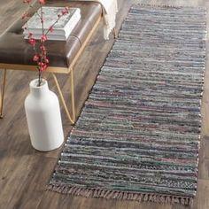 Safavieh Hand-woven Rag Rug Rust Cotton Rug (2'3 x 5') - Overstock - $22.02
