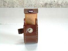 Vintage Leather Ear Bud Case Earphone от TheArtifactoryStudio