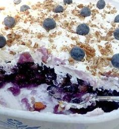 BLUEBERRY JELLO SALAD Ingredients: 1 can (16-ounces) crushed pineapple (reserved drained juice)** 1 cup boiling water 2 boxes (3 ounces) of grape or berry-blue JELL-O gelatin (can substitute sugar-free JELL-O)* 1 can (16-ounces) blueberry pie filling 1/2 cup fresh blueberries, washed 1/4 cup chopped pecans Directions: 1 – Drain the pineapple juice into a one (1) cup measuring cup. Fill the rest of the cup to the top with boiling water. 2 – Pour the gelatin into the pineapple juice/boiling…