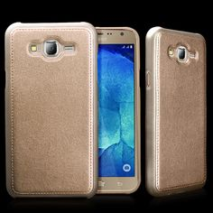 New For Samsung Galaxy J7 J700F Case Cover Luxury Leather+Soft TPU Silicone Hard Back Skin Gold Mobile Phone Accessories