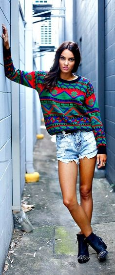 Shorts and long sleeves. I love it. But always get made fun of for it! I'm not the only one!!