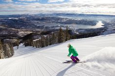 """Locals know that Sundance is one of the best times to hit the slopes. (As one long-time resident tell us, """"it's a great time to go skiing—everyone else is at the movies!"""")"""