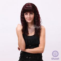 Free shipping Fashion synthetic hair Burgundy color Long curly full wigs-in Synthetic Wigs from Health & Beauty on Aliexpress.com | Alibaba Group