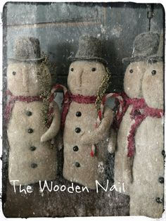 Vintage Snowman Pattern - available 11-27-17