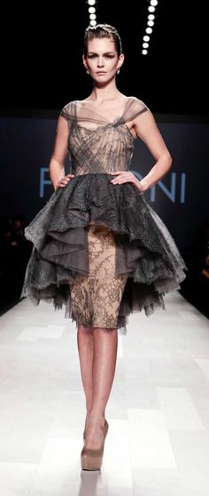 PAVONI. I'm not sure I would wear this dress, but it is stunning.