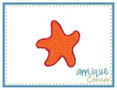 Starfish Happy Filled Mini Embroidery Design