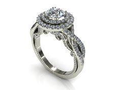 This ring comes with 2.00 ct Lab Created Diamond Simulant with a VVS1 Clarity, D color ( Center Stone ) , and (Accented diamonds) total 1.25 ct