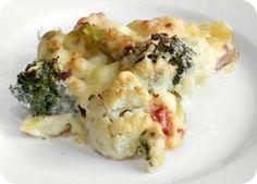 Blumenkohl-Broccoli-Auflauf mit Käse - kohlenhydratarmes Rezept von Low-Carb-Ernährung.de