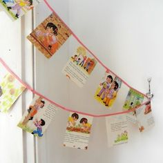Bunting,Vintage Book Paper Garland, from Jane