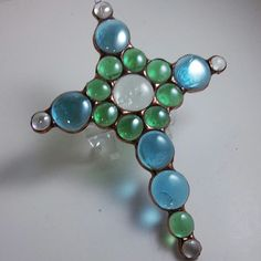 Super Hip Stained Glass Suncatcher in my uniquely designed gem cross. The perfect inspirational gift!