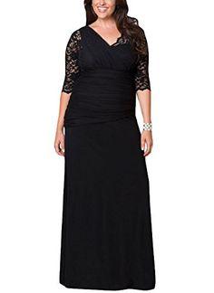 786a5f0dde05 Amazon.com  Cfanny Women s Hollow Out Full-figured Elegant Half Sleeves  Wedding Gown