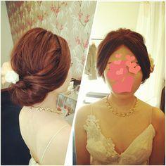 おしゃれな新婦様でした♪ #ヘアアレンジ#ヘアセット#ヘアスタイル #トリートドレッシング #シンプル#hairarrange #weddinghair #bridal#wedding #結婚式#髪型#ウェディング#updo#hair#ブライダル#ヘアメイク#ヘア