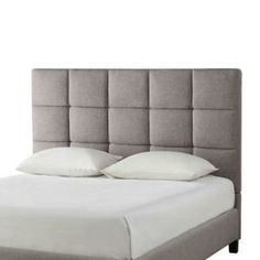 HomeSullivan Calais Grey Linen Queen-Size Bed-40885B322W(3A)[BED] at The Home Depot