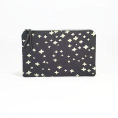 Purse organiser Womens wallet Zipper fabric pouch by NoLongerBlue