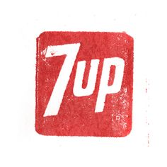 7up    Vintage logo cuts printed on proof press