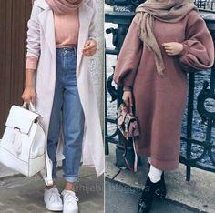 Oversized sweater dress hijab style Oversized sweater dress hijab style – Just Trendy Girls Modern Hijab Fashion, Street Hijab Fashion, Muslim Fashion, Modest Fashion, Fashion Outfits, Hijab Outfit, Hijab Stile, Modele Hijab, Outfit Look