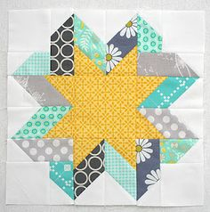 Ribbon Star block tutorial from Freshly Pieced