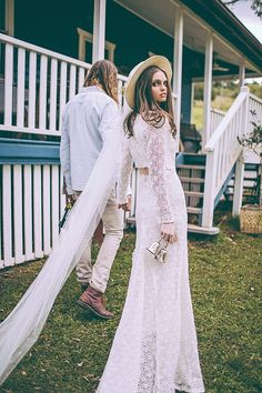 Boho Wedding Dresses 2015 - Daughters of Simone see more at http://www.wantthatwedding.co.uk/2015/04/07/boho-wedding-dresses-2015-daughters-of-simone/
