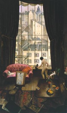 Christopher NEVINSON (1889 - 1946) Atelier à Montparnasse (1926, huile sur toile, Tate)