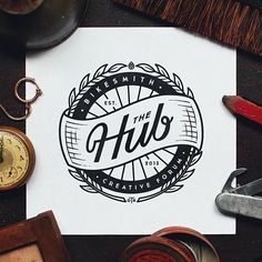 Stoked to have recently finished up the branding for The Hub, which is a new bike shop co-op that will be opening up in downtown Cincinnati in a few months. I'll be painting and gilding this on their shop window in the next few weeks, so look out for that!
