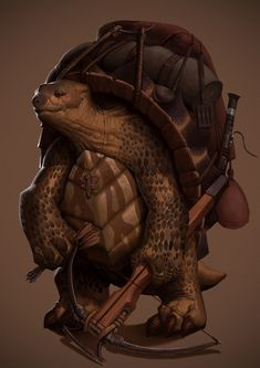 Dahmu, the Tortle ranger A character for my next D&D game