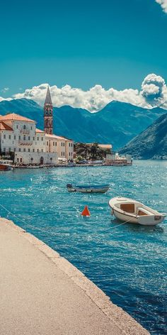 10 Most Breathtaking European Small Towns- PERAST Bay of Kotor, Montenegro  (an old town NorthWest from Kotor)