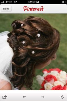Occasion your hair-Weddings Hairdo Wedding, Wedding Hairstyles For Long Hair, Ball Hairstyles, Half Up Half Down Hair, Good Hair Day, Dream Hair, Hair Barrettes, Hair Dos, Her Hair
