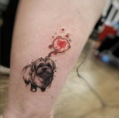 Cute Dog Tattoo by Felipe Rodrigues Fe Rod
