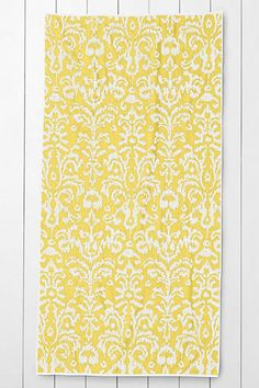 I am CRAZY for ikat, especially in yellow!  This towel is my best friend; my welcome mat at the beach.