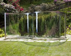 Dan Graham , two way mirror, hedge arabesque / permanent installation fondazione zegna